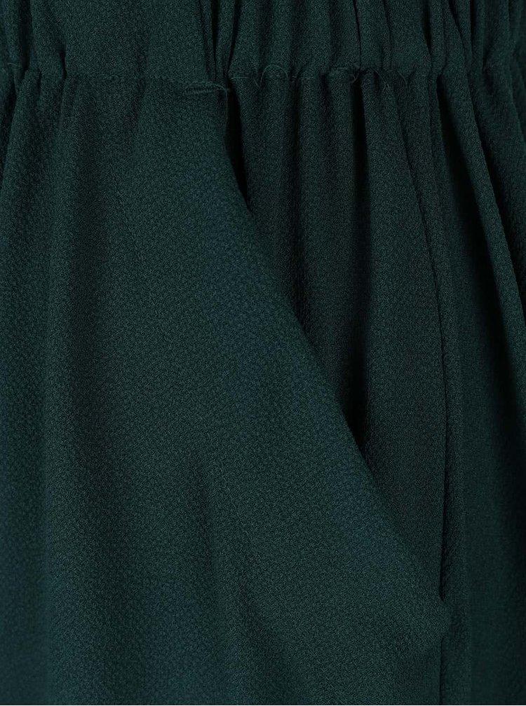 Tmavě zelené šaty s kapsami VILA Calt