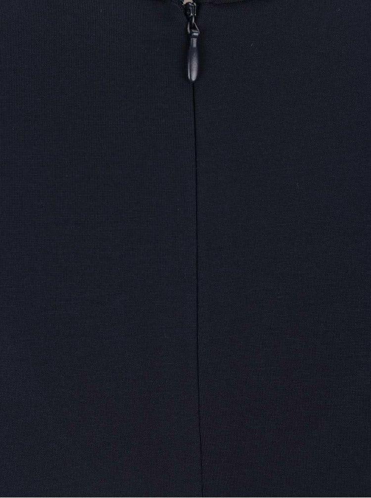Tmavě modré šaty s véčkovým výstřihem VILA Foama