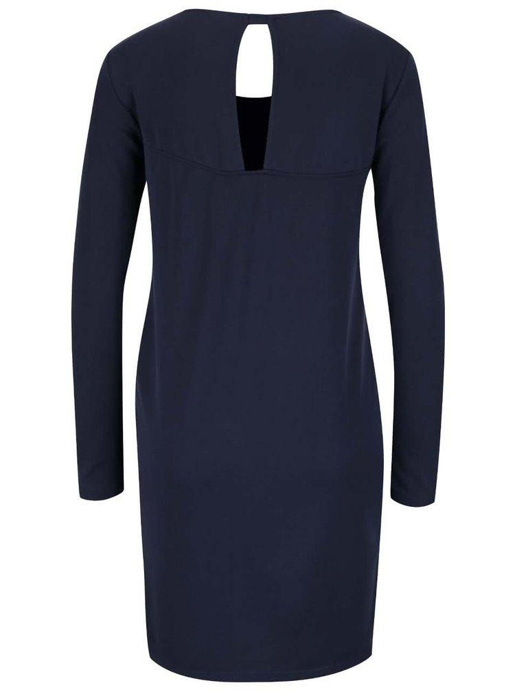 Rochie albastru inchis VILA Listy cu model petrecut