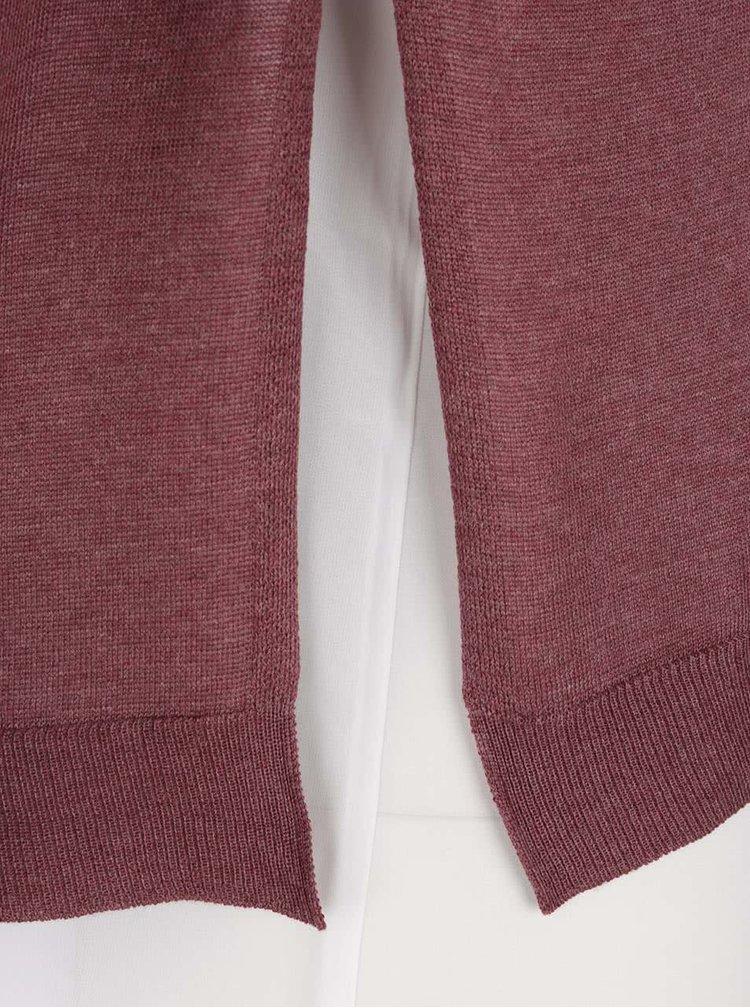 Pulover vișiniu 2în1 ONLY Sue cu maiou crem detașabil