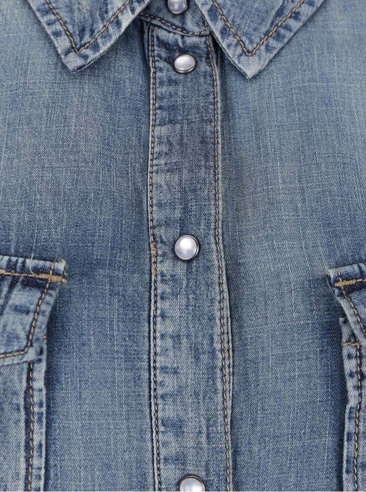 Cămașă albastră ONLY Ston din denim