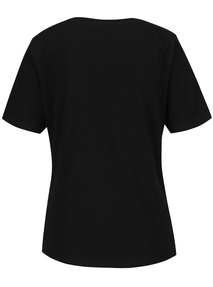 Tricou negru ONLY Foil cu print