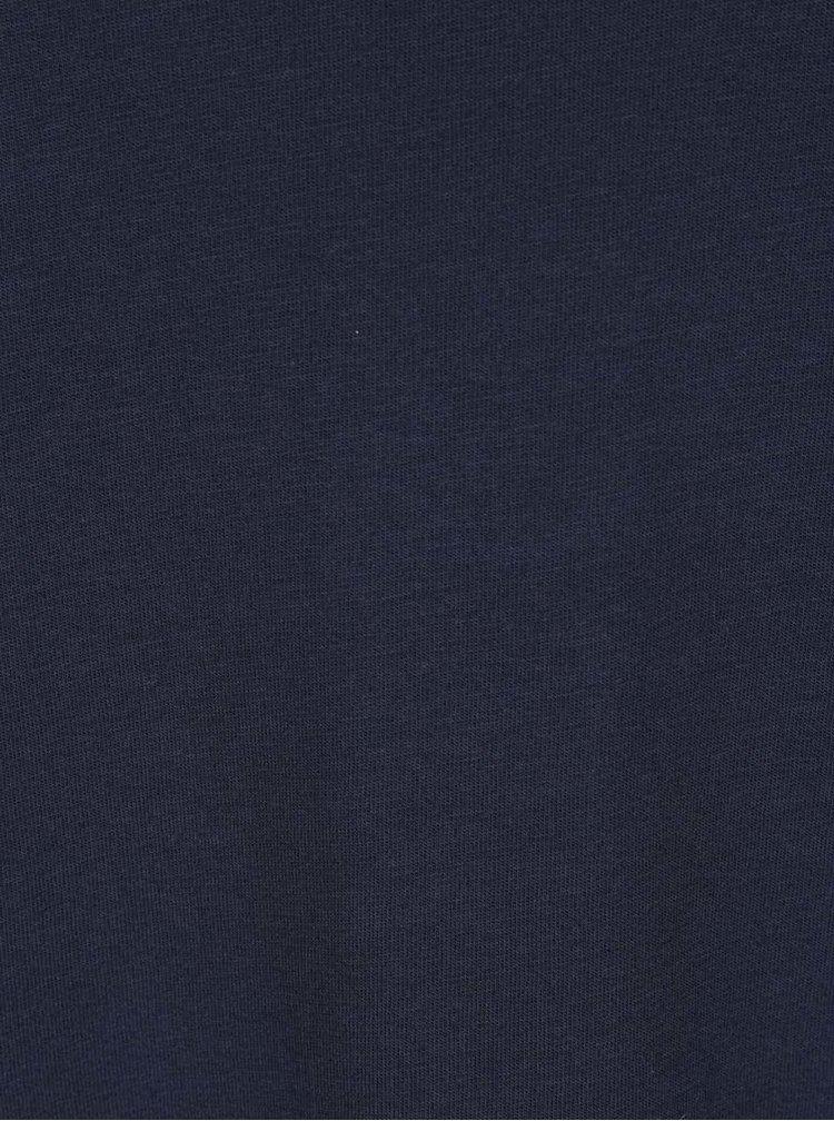 Tmavě modrý volný top se zvonovými rukávy VILA Haula