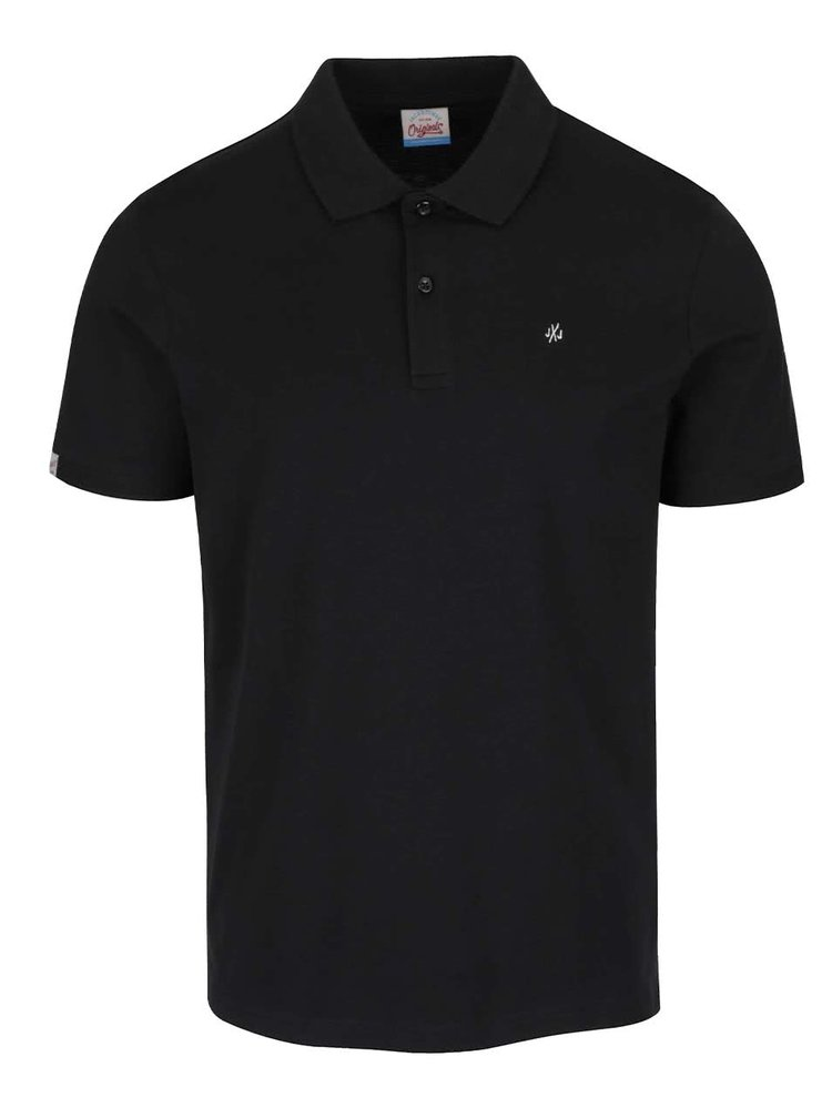 Černé polo triko Jack & Jones Perfect
