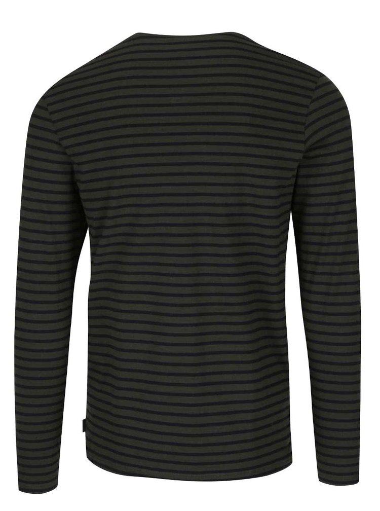 Bluza gri cu negru Jack & Jones Brit cu maneca lunga