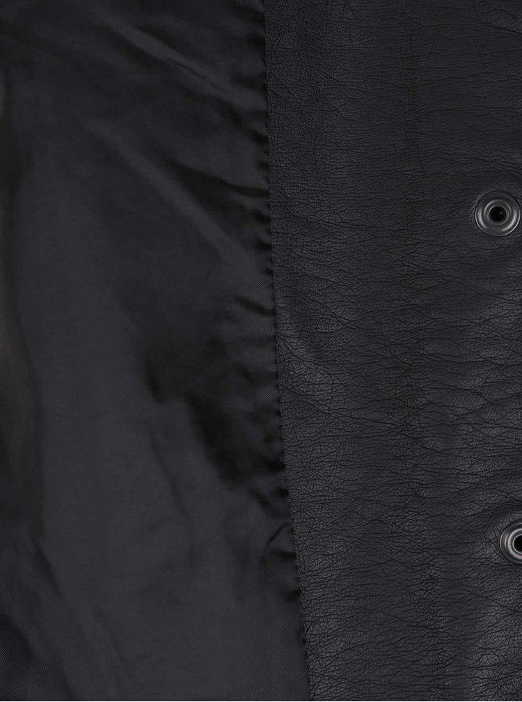 Jachetă ONLY Sandy neagră din piele sintetică