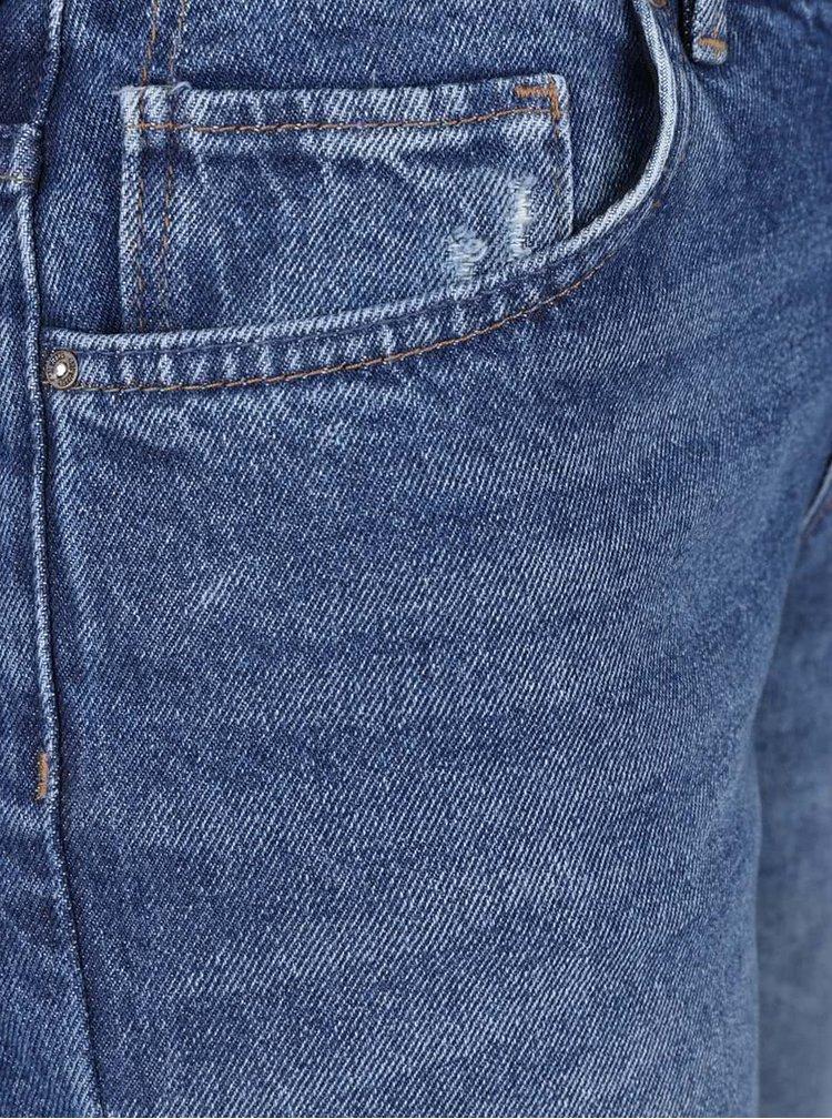 Modré straight fit džíny ONLY Sadie