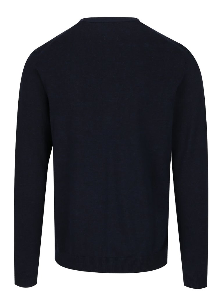 Tmavě modrý propínací svetr Jack & Jones Fabian