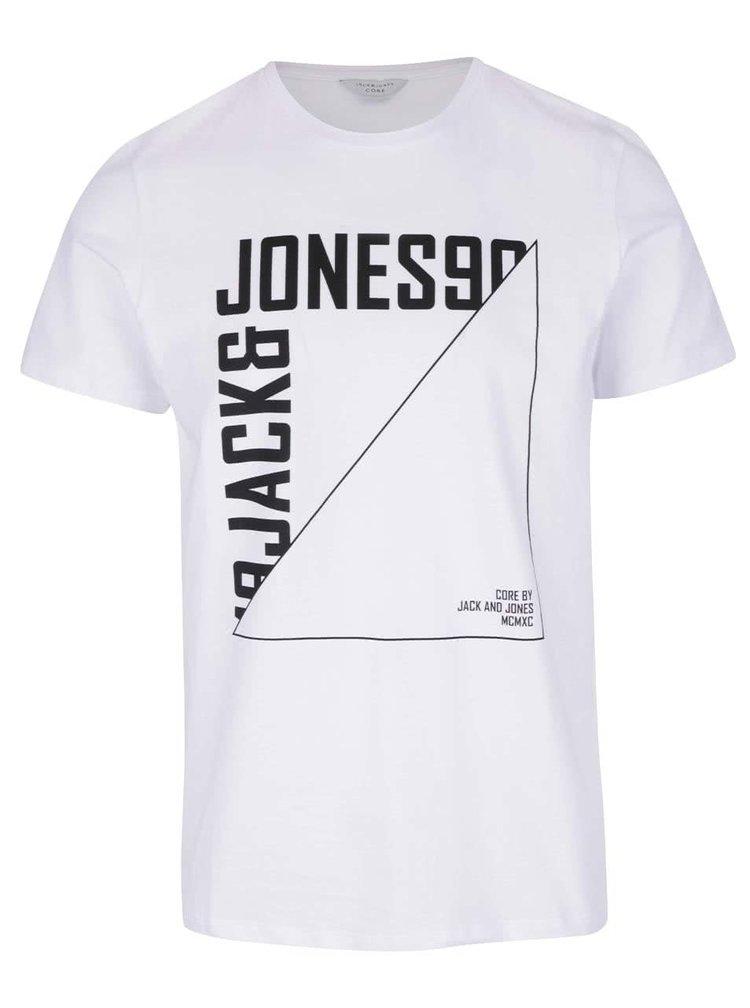 Bílé triko s potiskem Jack & Jones Tercept