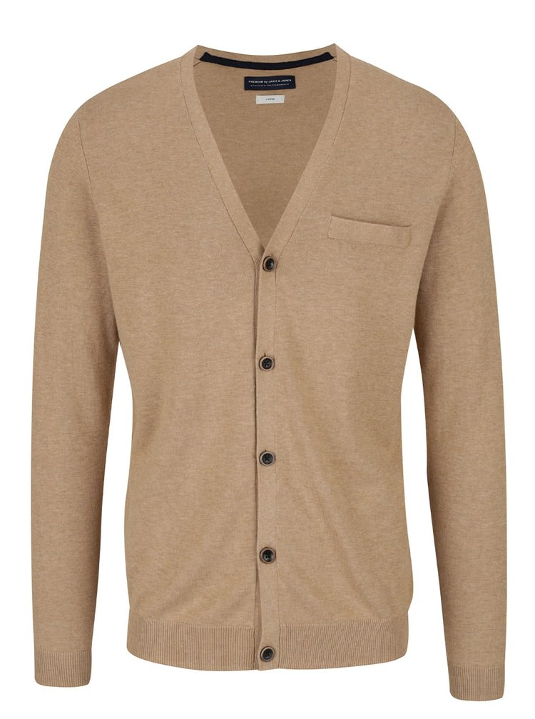 Cardigan maro deschis Jack & Jones Fabian