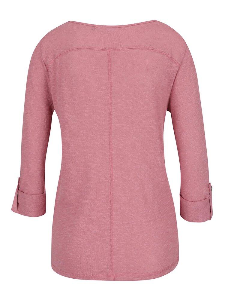 Bluza roz prafuit ONLY Jess cu mansete indoite