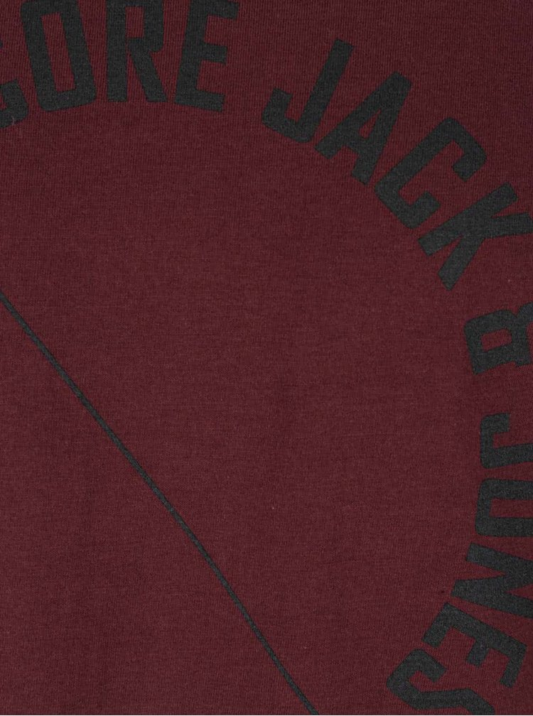 Vínové triko s potiskem Jack & Jones Tercept