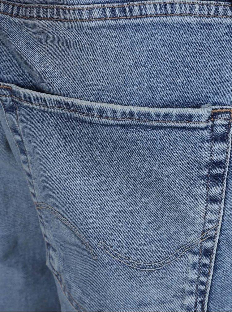 Modré slim džíny s potrhaným efektem Jack & Jones Glenn