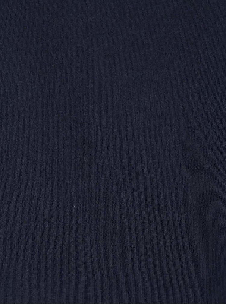 Tmavě modré basic tričko s krátkým rukávem Jack & Jones Basic