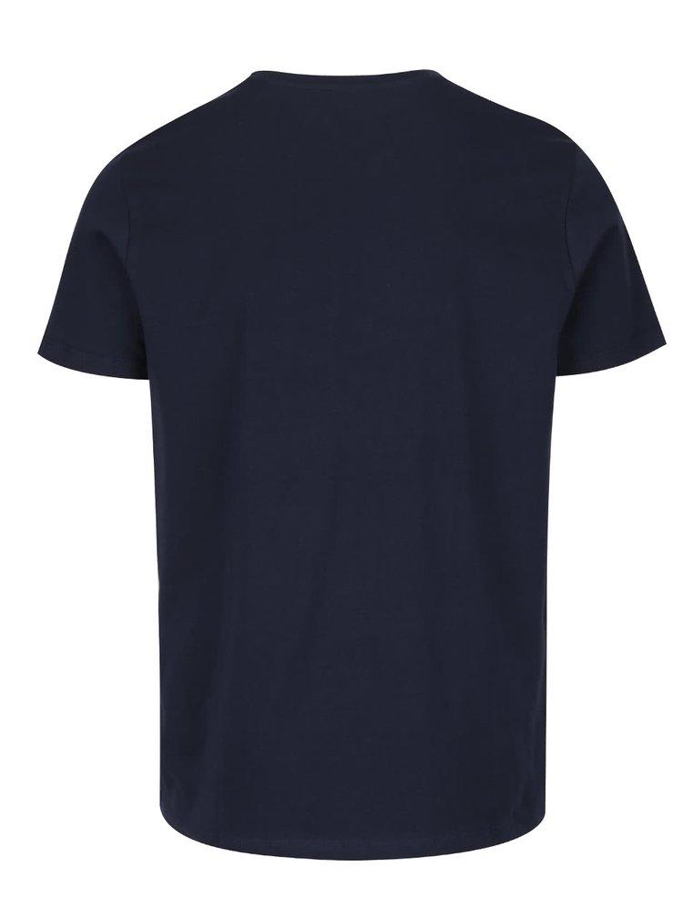 Tricou albastru închis Jack & Jones Basic