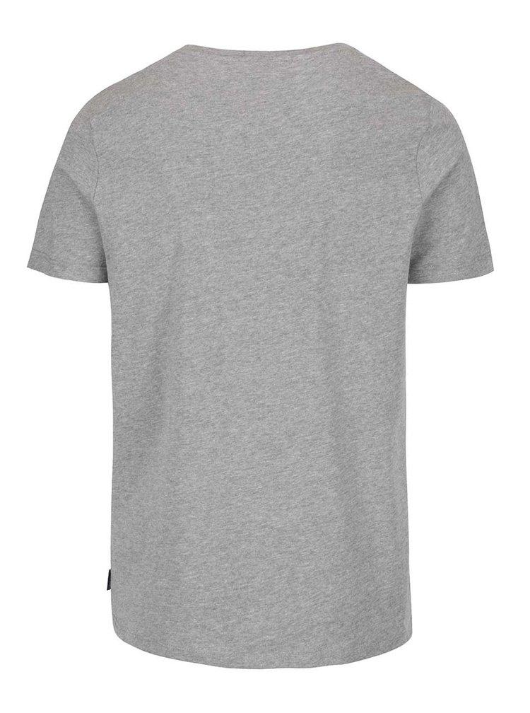 Šedé basic tričko s krátkým rukávem Jack & Jones Basic
