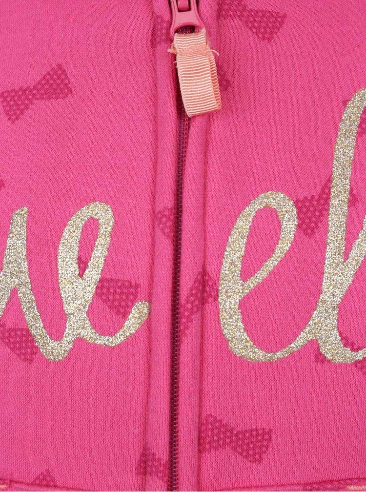 Růžová holčičí vzorovaná mikina 5.10.15.