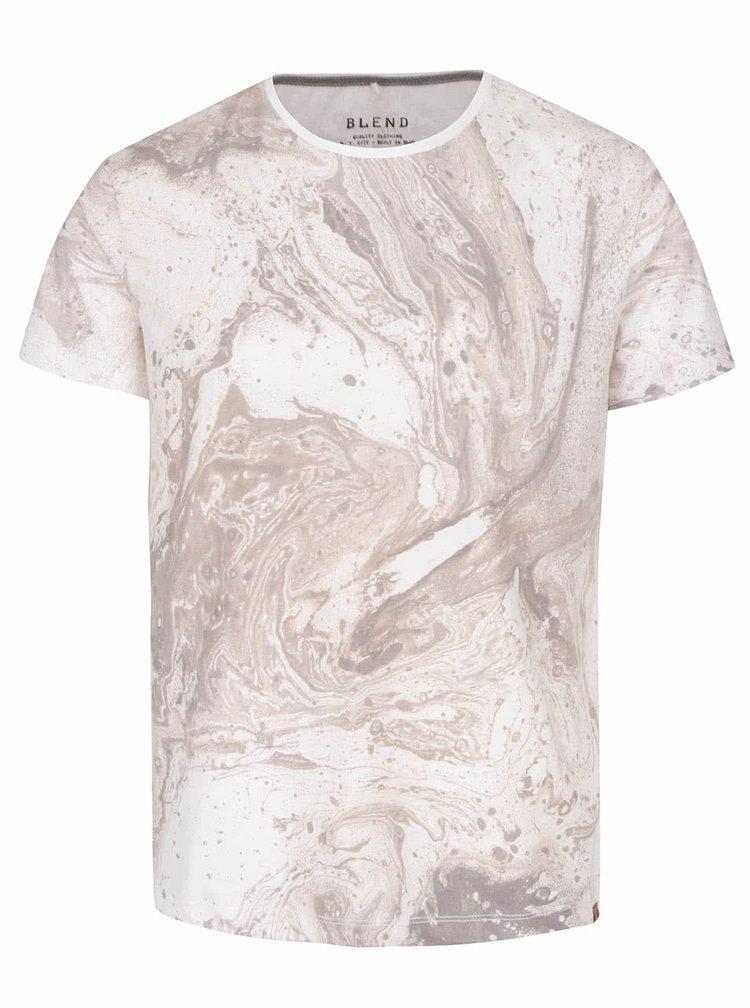 Krémové tričko s krátkym rukávom Blend