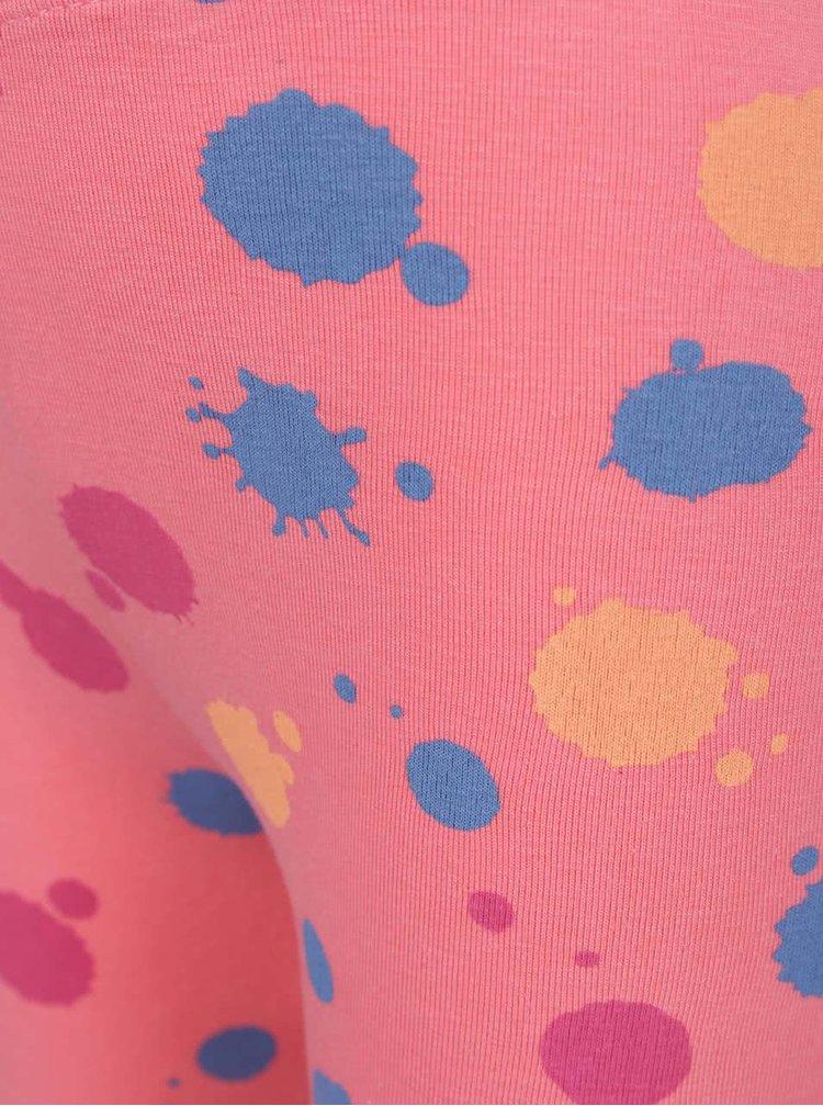 Růžové holčičí vzorované legíny 5.10.15.