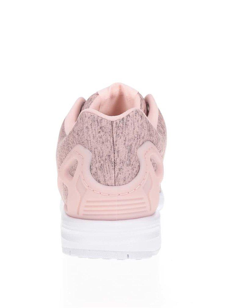 Meruňkové žíhané dámské tenisky adidas Originals Flux