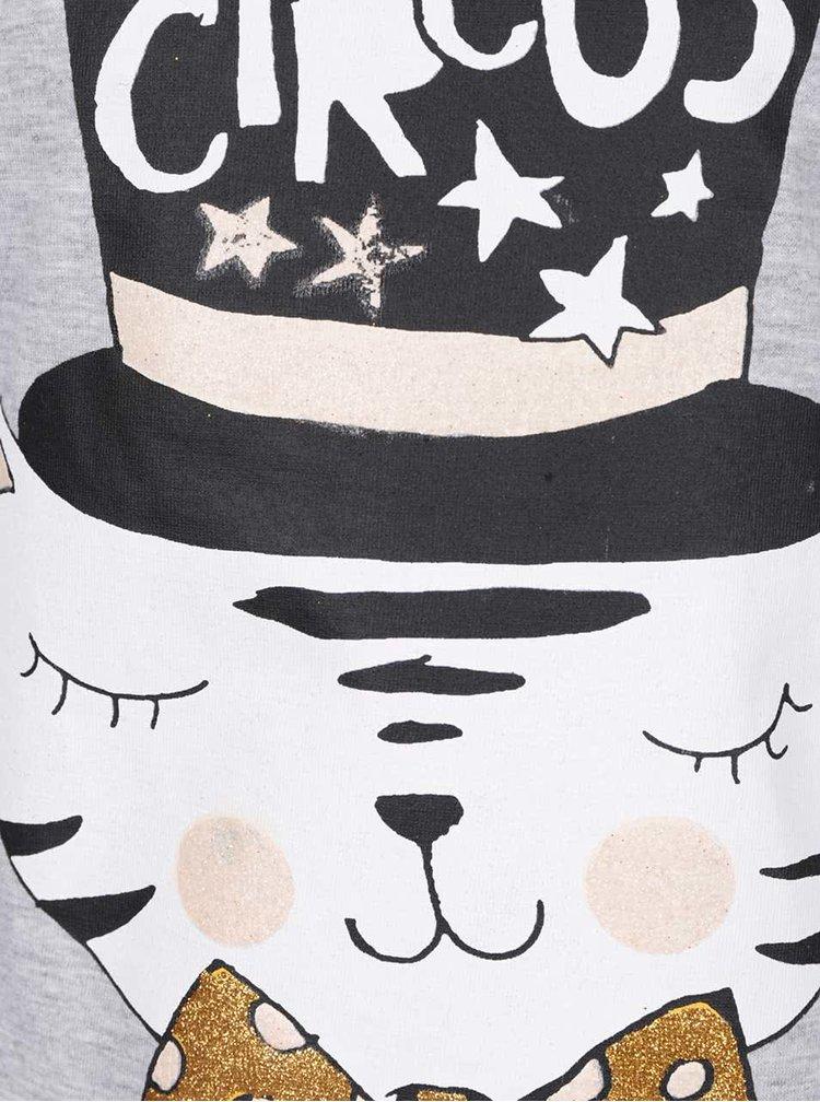 Světle šedé holčičí tričko s potiskem  5.10.15.