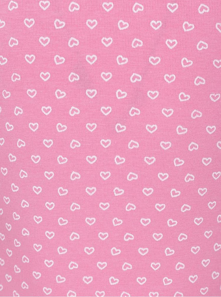 Sada dvou holčičích tílek bílo-růžové barvě 5.10.15.