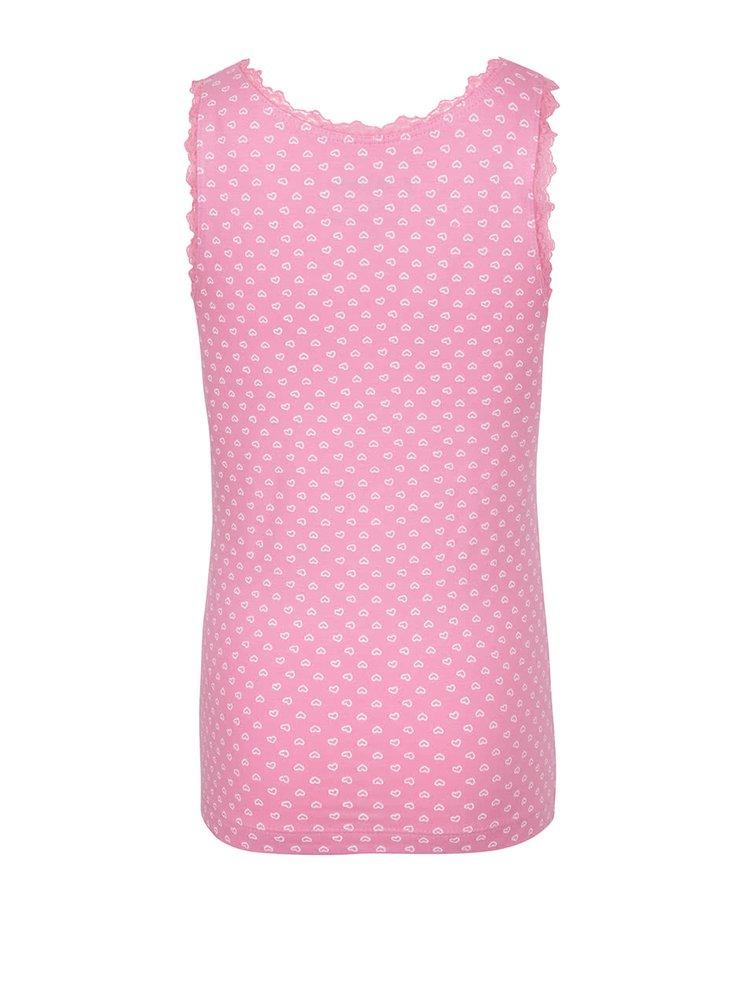 Set de 2 maiouri 5.10.15. alb/roz cu model