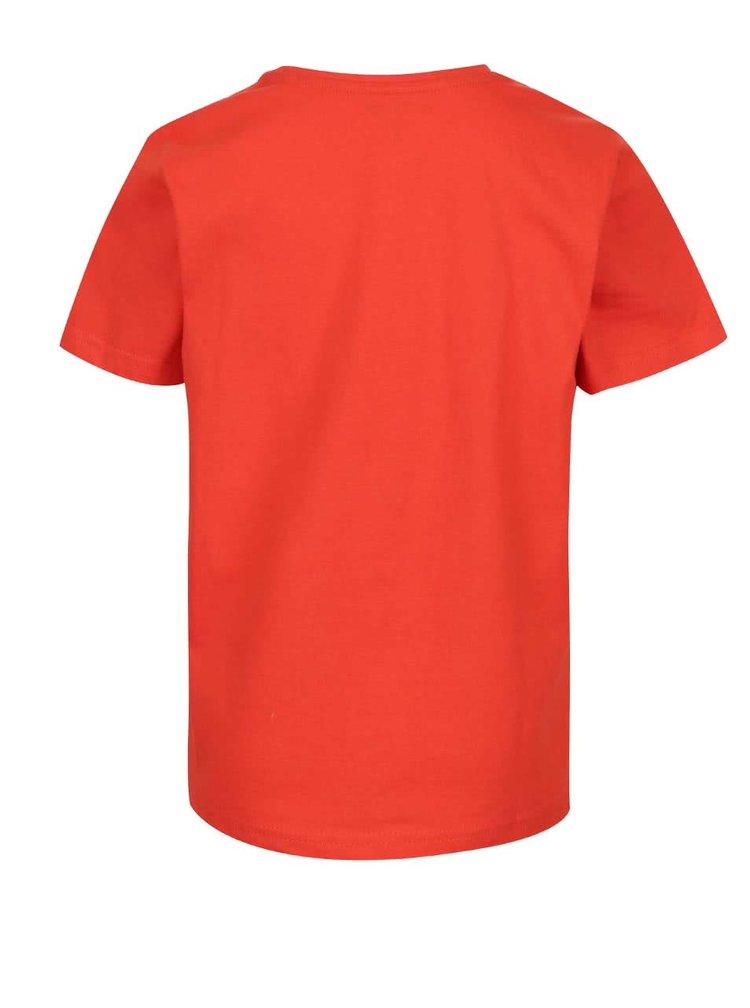 Červené klučičí triko s potiskem 5.10.15.