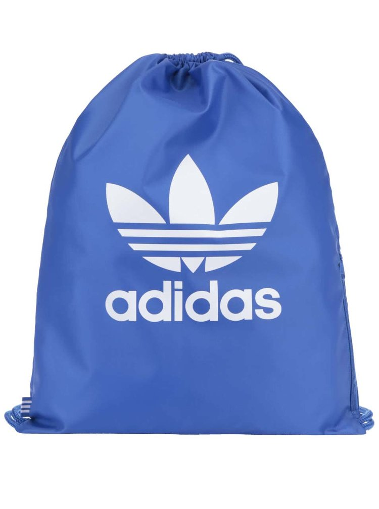 Rucsac albastru din material textil adidas Originals Trefoil