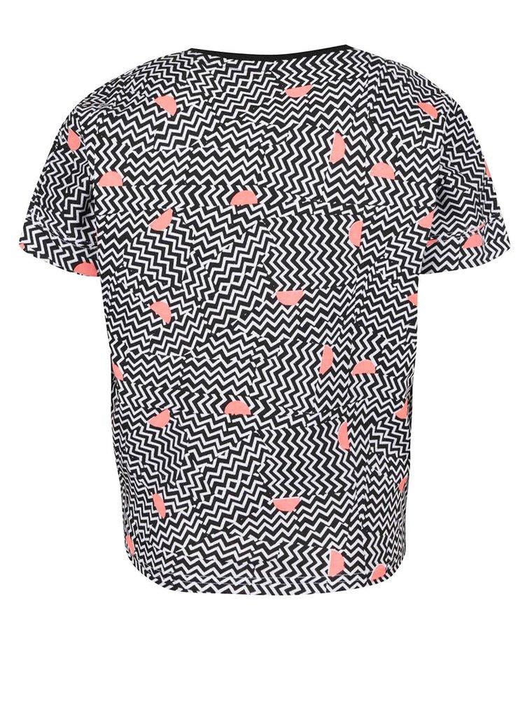 Černo-bílé holčičí vzorované tričko 5.10.15.