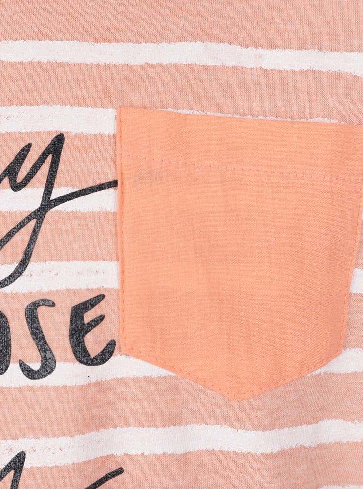Meruňkové holčičí pruhované tričko 5.10.15.
