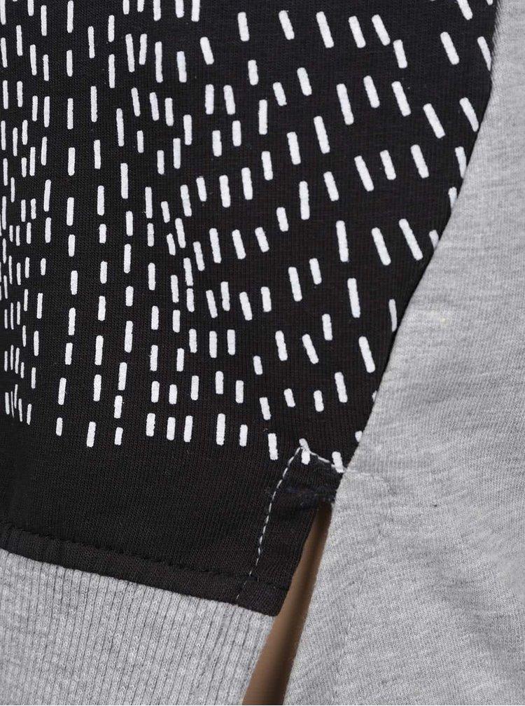 Černo-šedé holčičí mikinové šaty 5.10.15.