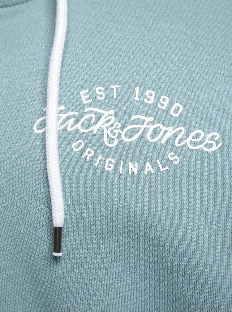 Světle modrá mikina na zip Jack & Jones Light