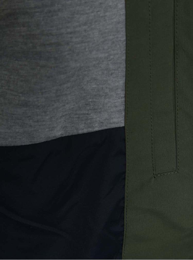 Jachetă bomber kaki Jack & Jones Harlow cu glugă