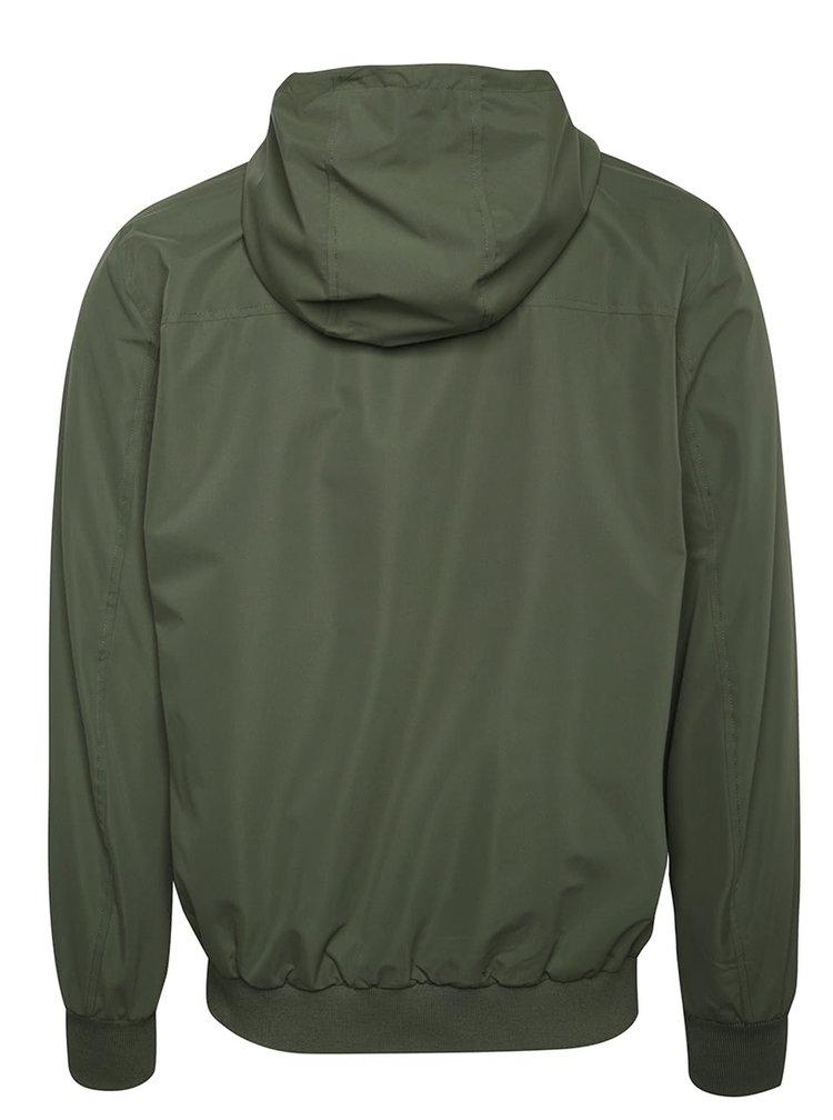 Khaki lehká bunda s kapucí Jack & Jones Harlow