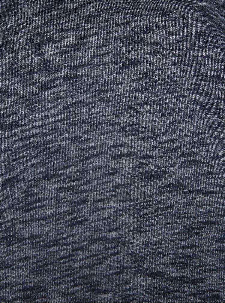 Tmavě modrá žíhaná mikina s vysokým límcem Jack & Jones Lance