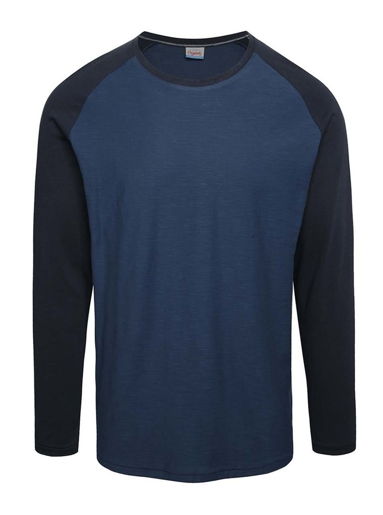 Bluza beumarin Jack & Jones New Stan cu maneci raglan