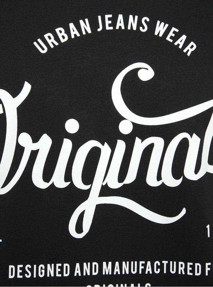 Tricou negru din bumbac Jack & Jones New cu logo print