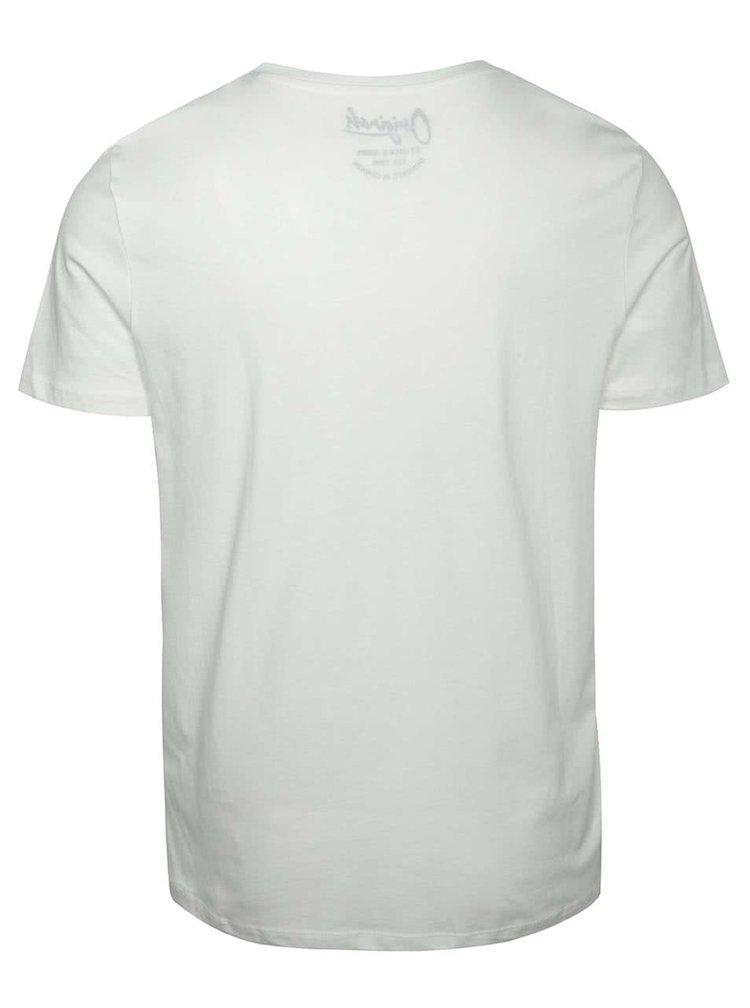 Krémové triko s potiskem Jack & Jones New