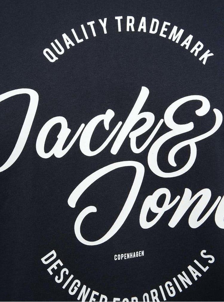 Tmavě modré triko s potiskem Jack & Jones New