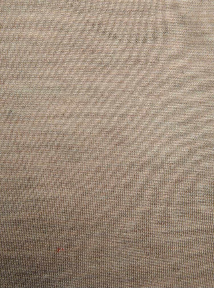 Bluza jerseu bej Jack & Jones Premium Mark din lana merinos