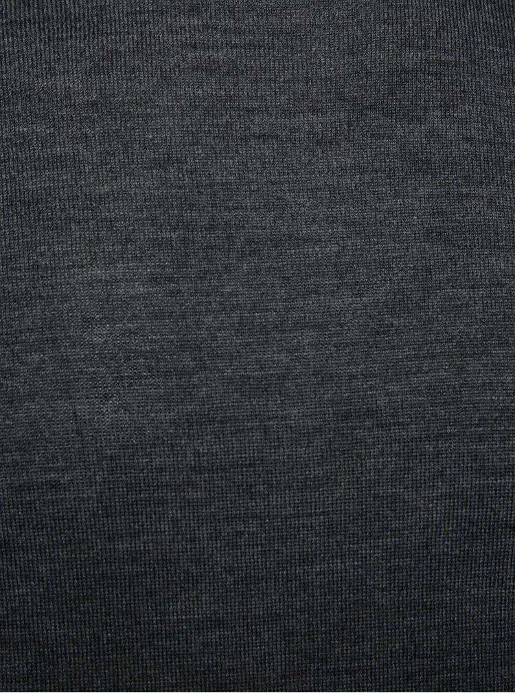 Pulover gri închis Jack & Jones Premium Mark din jerseu