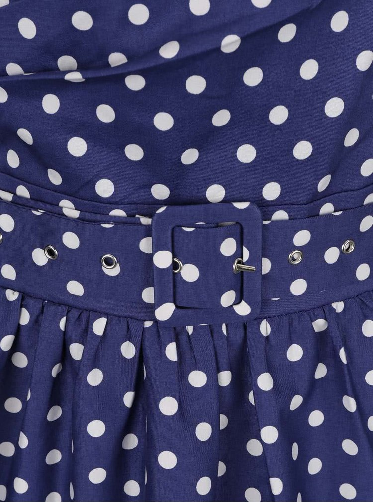 Rochie albastra cu buline Dolly & Dotty May