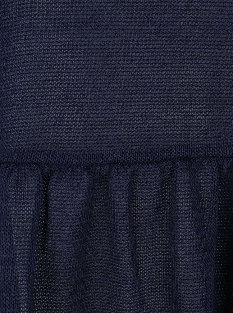 Tmavě modré tričko s dlouhými rukávy VERO MODA Nana