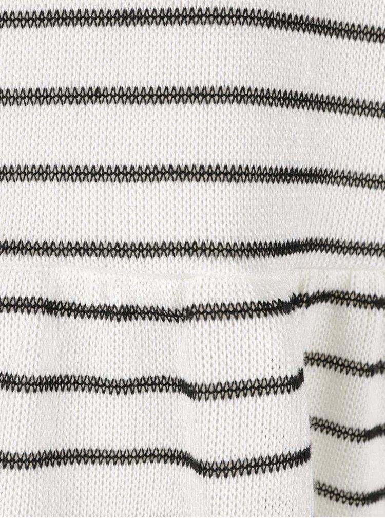 Krémové pruhované tričko s dlouhými rukávy VERO MODA Nana