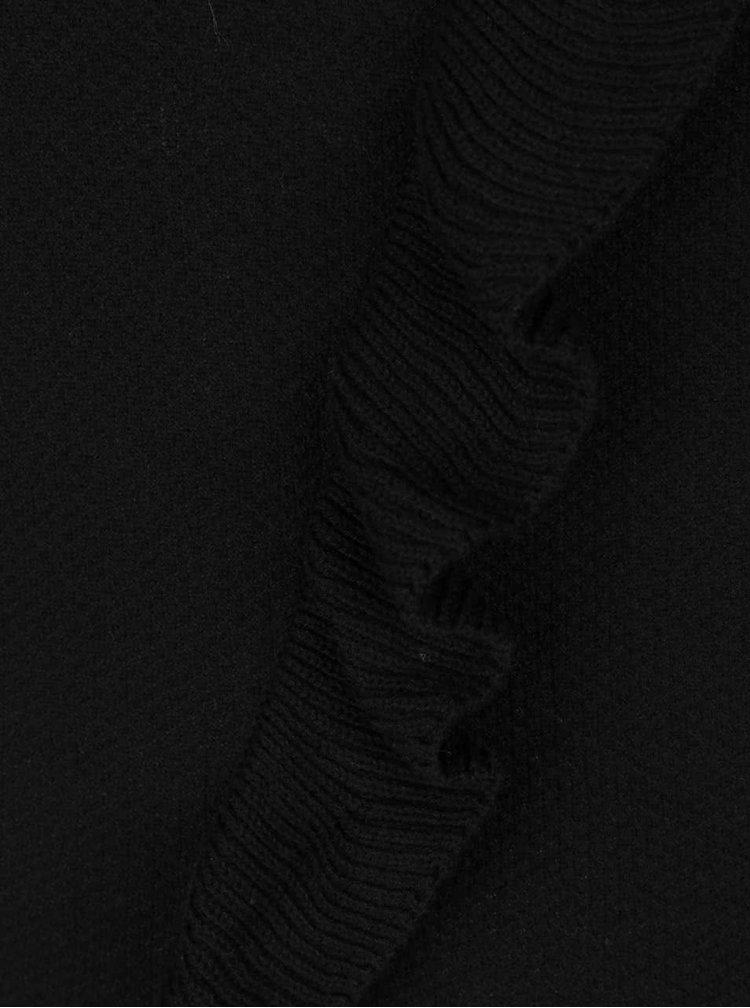 Pulover negru VERO MODA Hawaii cu volane