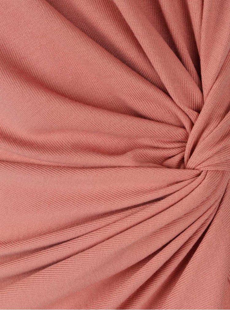 Starorůžové šaty s nařasením VERO MODA Sachi