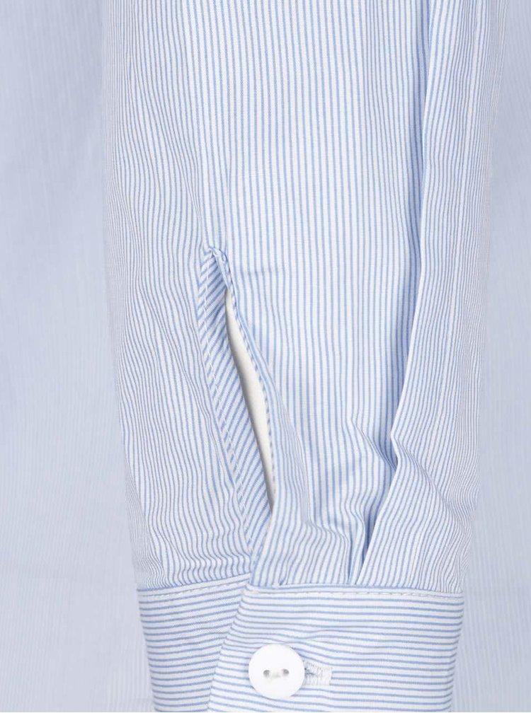 Bílo-modrá pruhovaná košile s průstřihy na rukávech VERO MODA Gibby