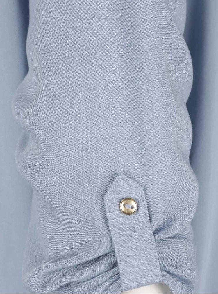 Světle modrá halenka s 3/4 rukávem VERO MODA Boca