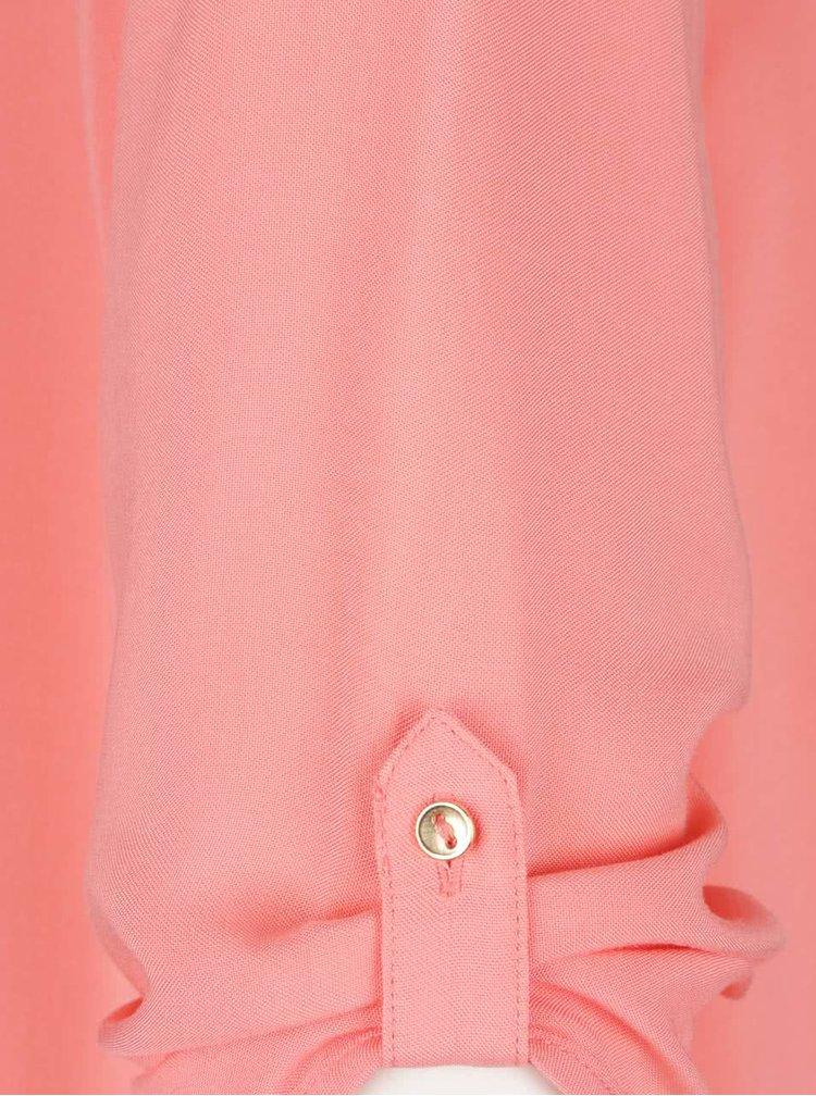Růžový top s 3/4 rukávem VERO MODA Boca